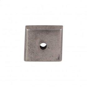 Aspen Square Backplate 7/8 Inch - Silicon Bronze Light