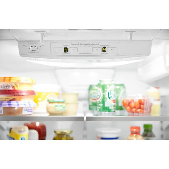 Whirlpool(r) 33 Inch Wide French Door Refrigerator   22 Cu. Ft.    Fingerprint Resistant Stainless Steel
