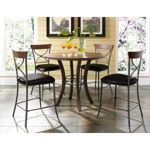 Hillsdale FurnitureCameron 5pc Counter Height Wood Dining Set With X Back Stools