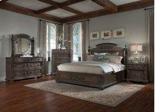 Queen Bedroom Set Includes Dresser, Mirror, Bed & Nightstand