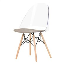 Eiffel Style Office Chair - Clear and Gray