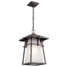 Beckett 1 light Pendant with LED Bulb Weathered Zinc