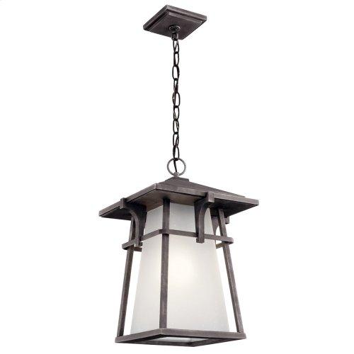 Beckett 1 light Pendant with LED Bulb Weathered Zinc