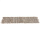 Beige Leather Chindi 2' x 6' Rug (Each One Will Vary) Product Image