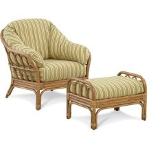 Moss Landing Wicker Chair and Ottoman