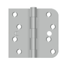 "4""x 4""x 5/8""x SQ Hinge, Security - Brushed Stainless"