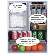 "24"" Outdoor Refrigerator Freezer  Marvel Premium Refrigeration - Model Number - Outdoor Ice Maker Kit"