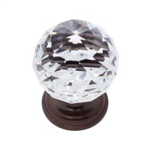 Old World Bronze 40 mm Round Faceted Knob
