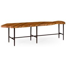 "Inlaid Stripe ""Necktie"" Bench or Coffee Table"