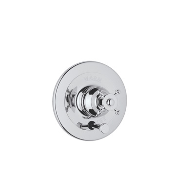 Polished Chrome Perrin & Rowe® Georgian Era Pressure Balance Trim With Diverter with Georgian Era Style Solid Metal Lever