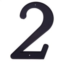 "Black 4"" House Number ""2"""
