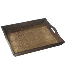 Jodpur Gold Stamped Serving Tray.