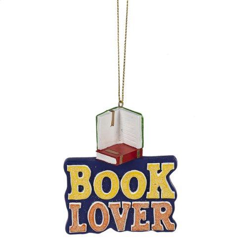 """""""Book Lover"""" Ornament."""