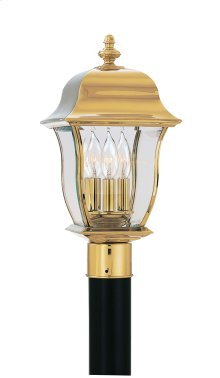 "10"" Post Lantern - Solid Brass in Polished Brass"