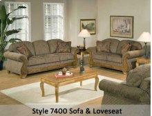 Torrey Tomato/Bunkhouse Fringe/Jada Tomato 7400FRS - Sofa