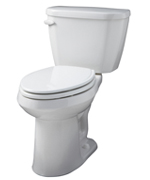 """White Viper® 1.6 Gpf 12"""" Rough-in Two-piece Compact Elongated Ergoheight Toilet"""