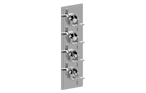 Finezza UNO Thermostatic 4-Hole Trim Plate and Handle