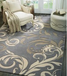 Contour Con09 Sil Rectangle Rug 5' X 7'6''