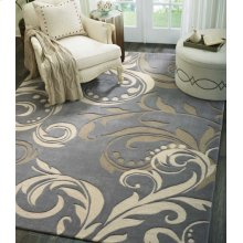 Contour Con09 Sil Rectangle Rug 3'6'' X 5'6''