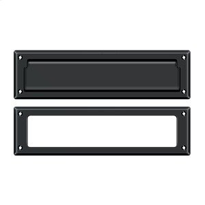 """Mail Slot 13 1/8"""" with Interior Frame - Paint Black"""