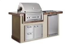 """Contemporary Gray 30"""" Deluxe Island Package, NG"""