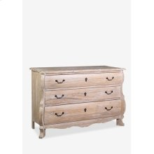 (LS) Rhone chest of 3 drawers made of solid wood..Solid mindi wood/decoative accents pulls..Base...