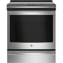"""GE Profile™ 30"""" Smart Slide-In Front-Control Induction and Convection Range"""
