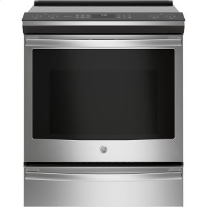 "GE ProfileGE PROFILEGE Profile™ Series 30"" Slide-In Front Control Induction and Convection Range"
