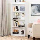 4-Shelf Bookcase - Pure White Product Image