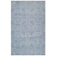 Javiera Contemporary Moroccan 5x8 Area Rug in Ivory and Light Blue