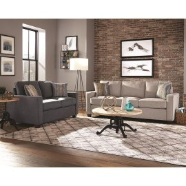 Brownswood Light Grey Two-piece Living Room Set