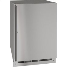 "Outdoor Collection 24"" Refrigerator With Stainless Solid (lock) Finish and Field Reversible Door Swing (115 Volts / 60 Hz)"