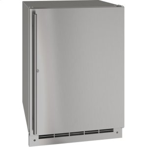 """U-Line Outdoor Collection 24"""" Refrigerator With Stainless Solid (Lock) Finish And Field Reversible Door Swing (115 Volts / 60 Hz)"""