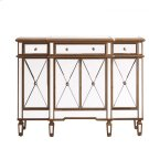 3 Drawer 4 Door Cabinet 48 in. x 14 in. x 36 in. Gold Clear Product Image