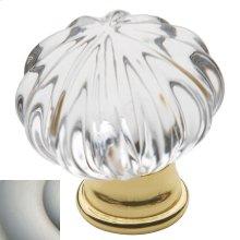 Satin Nickel Crystal Cabinet Knob