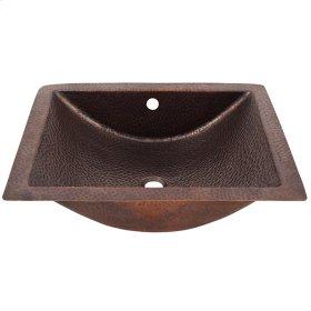 Fuller Concave Copper Undermount Basin - Hammered Antique Copper