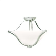 Langford Collection Langford 2 Light Semi Flush Ceiling Light NI