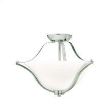 Langford Collection Langford 2 Light Semi Flush Ceiling Light NI