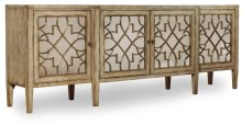 Sanctuary Four-Door Mirrored Console - Surf-Visage