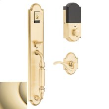 Lifetime Polished Brass Evolved Devonshire Handleset