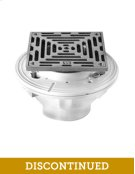 """6"""" Square Complete Shower Drain - Cast Iron - Brushed Nickel Product Image"""