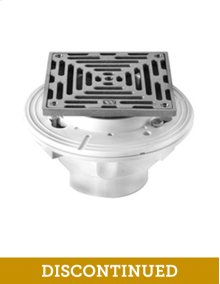 "6"" Square Complete Shower Drain - Cast Iron - Brushed Nickel"