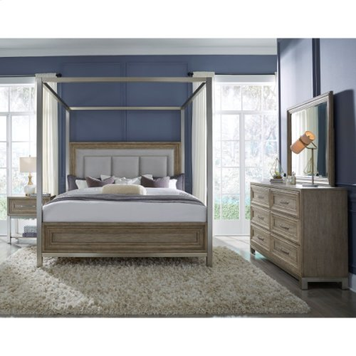 Park Place Queen Canopy Bed Footboard and Slats