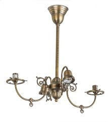 "25""L Revival Gas & Electric 4 LT Oblong Chandelier Hardware"