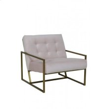 Chair 71x81x70 cm GENEVE velvet light pink+gold