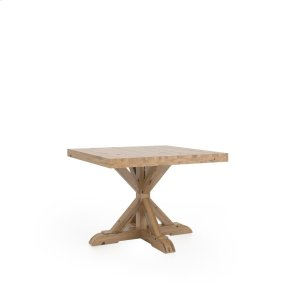 Square table with pedestal