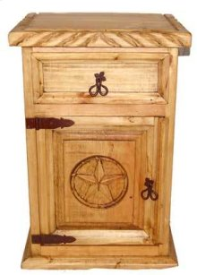 1 Drawer 1 Door Night Stand W/rope Star
