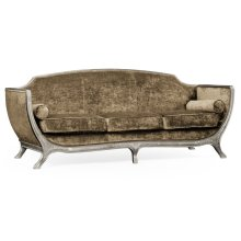 Empire Style Sofa (Silver Leaf/Velvet Calico)