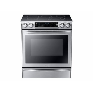 SAMSUNG5.8 cu. ft. Slide-In Electric Range with Flex Duo in Stainless Steel