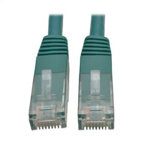 Premium Cat5/5e/6 Gigabit Molded Patch Cable, 24 AWG, 550 MHz/1 Gbps (RJ45 M/M), Green, 10 ft.